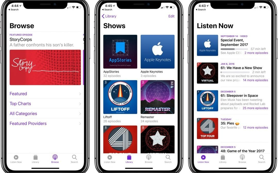 Apple Podcast Changes Go Live